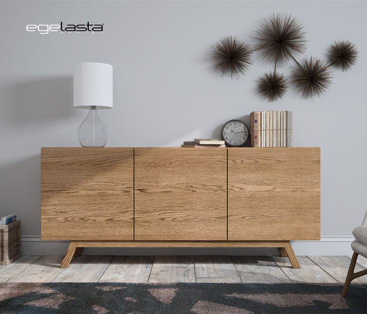 Egelasta · Mueble · Moderno  · Madera · Mobiliario de hogar · Catálogo New Live · Día · Comedor · Aparador 3 puertas · Roble viejo