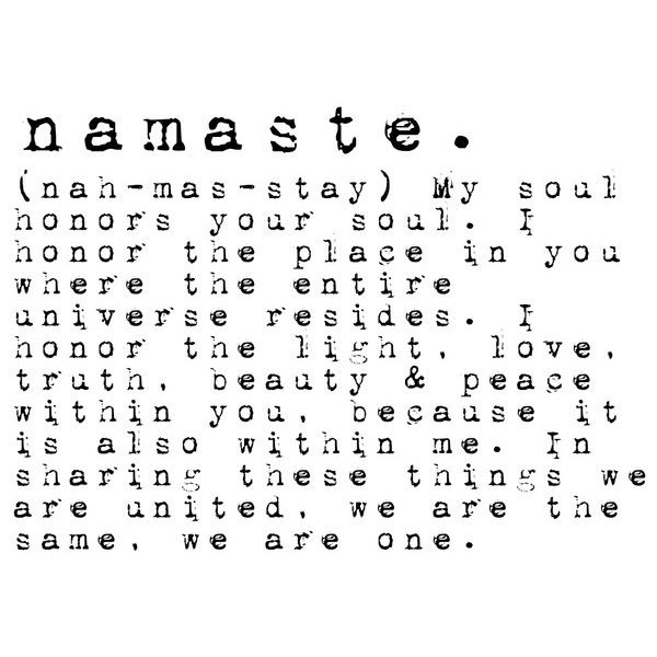 Namaste definition Art Print ($17) ❤ liked on Polyvore featuring home, home decor, wall art, phrase, quotes, saying and text
