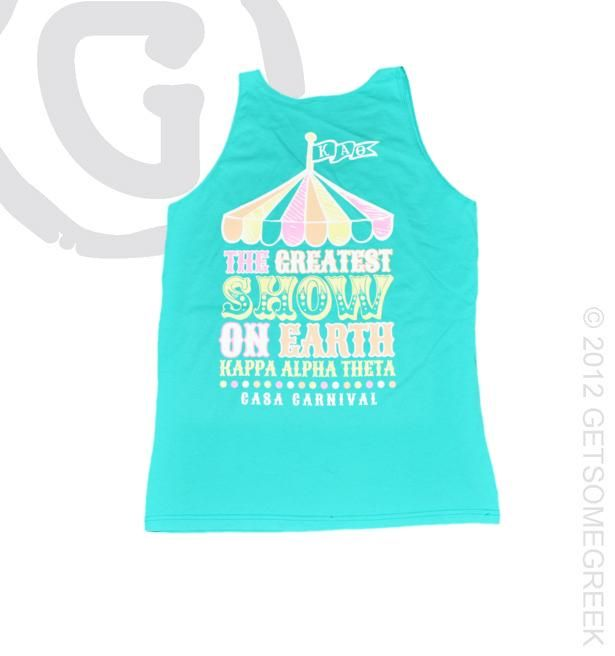 Kappa Alpha Theta Carnival Tank!! So cute for a bid day theme or recruitment! GetSomeGreek & KAT!