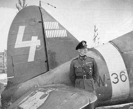 """Eino Ilmari """"Illu"""" Juutilainen: The top scoring non-German fighter pilot of all time."""