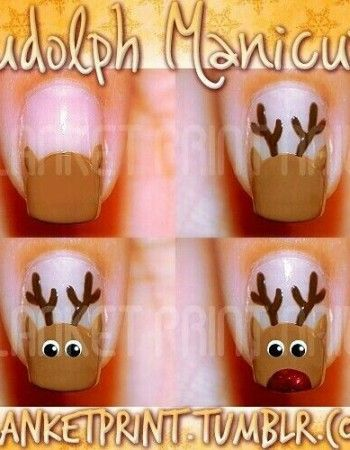 nail designs disney christmas | christmas design nail art Archives - Tweenhood