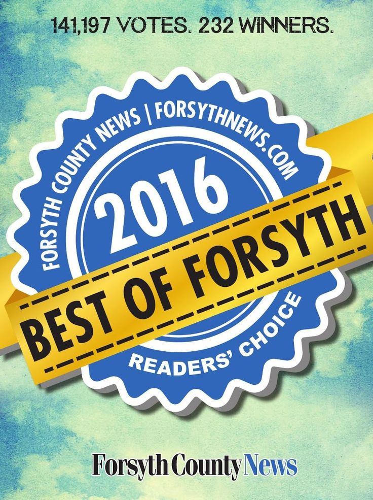 Check out the Best of Forsyth County, GA. https://issuu.com/forsythnews/docs/__bestofforsyth2016mag_january2016_