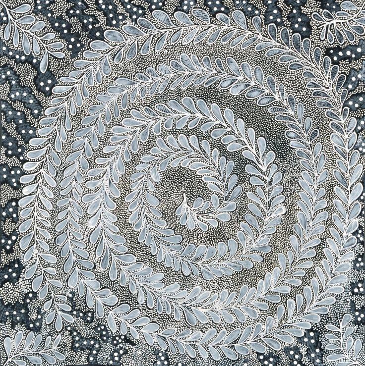 Maureen Hudson Nampitjinpa, Munukitji (Blackberry Bush) MK17892, 60 x 60cm @ Muk Muk Fine Art Gallery