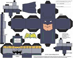 BAT - BLOG : BATMAN TOYS and COLLECTIBLES: New BATMAN TOYS - DC Comics Cubees Paper Craft Figures