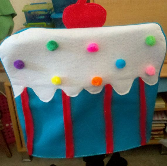 Happy Birthday Cupcake cover for small chair by JNLsewcute on Etsy, $20.00