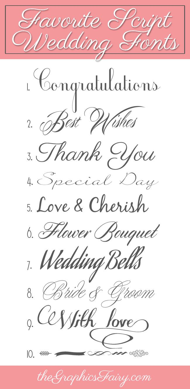 Favorite Script Wedding Fonts-The Graphics Fairy