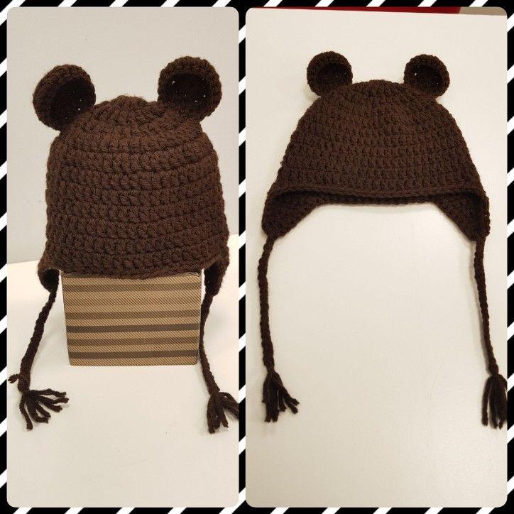 Osito a crochet marrón - T: 3 a 6 meses