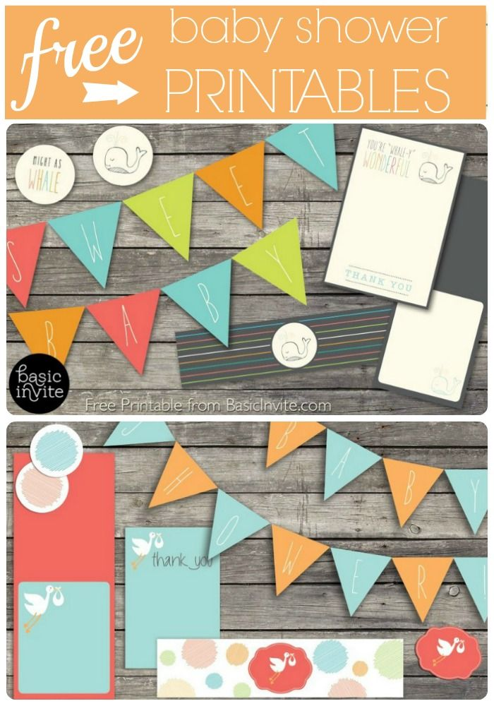 Free baby shower printables - these are so adorable!