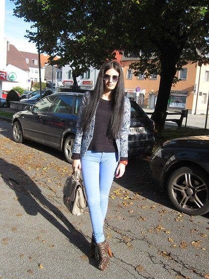 New Yorker Sunglasses, H&M Blazer, H&M Blouse, H&M Bag, New Yorker Watche, Tally Weijl Pants