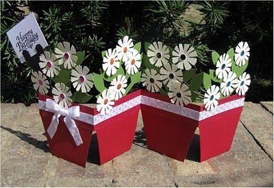 Flowerpot Accordian Card
