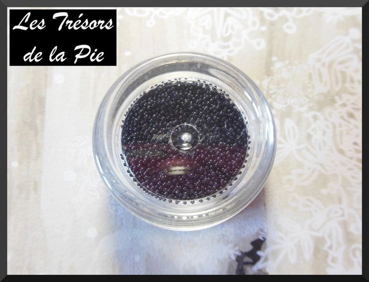 PERLES MICRO BILLES 3D ONGLES (5g) - Nail art - MANUCURE CAVIAR - Gris foncé