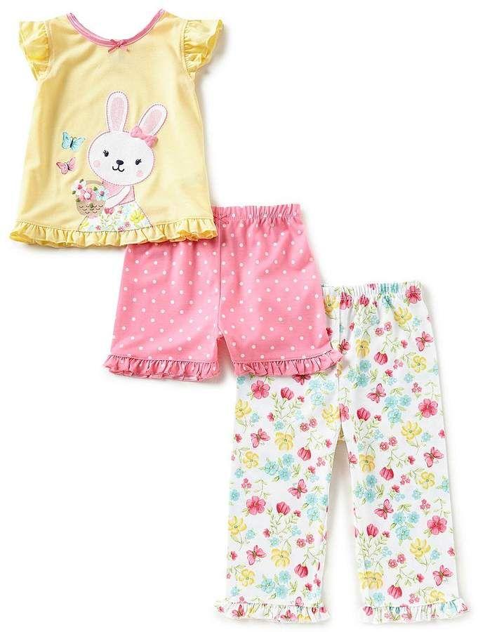 db76c0001 Little Me Baby Girls 12-24 MonthsBunny Pajama Tee
