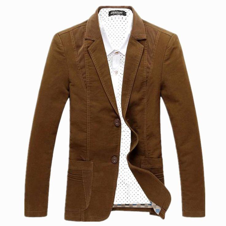 Spring Autumn men's leisure suit cotton slim young men's suit design outwear thin coat for men jacket blazer men