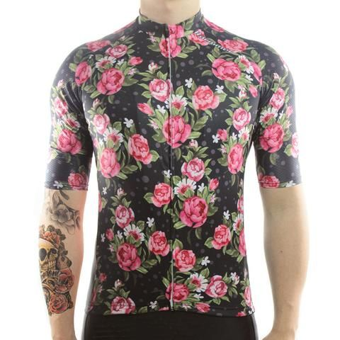 Roses - Short Sleeve Cycling Jersey