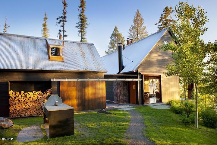 Stone camp creek house bigfork montana barns garages for Cottages at camp creek