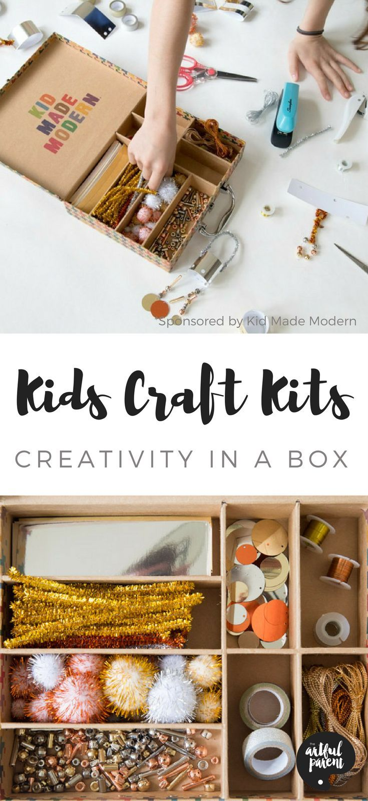 Kids craft kits make great gifts and also provide all the materials for a variety of creative projects. Here are some awesome open-ended craft kits for kids.