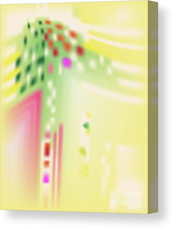 Yellow Canvas Print featuring the digital art Digital Mind by Ron Labryzz
