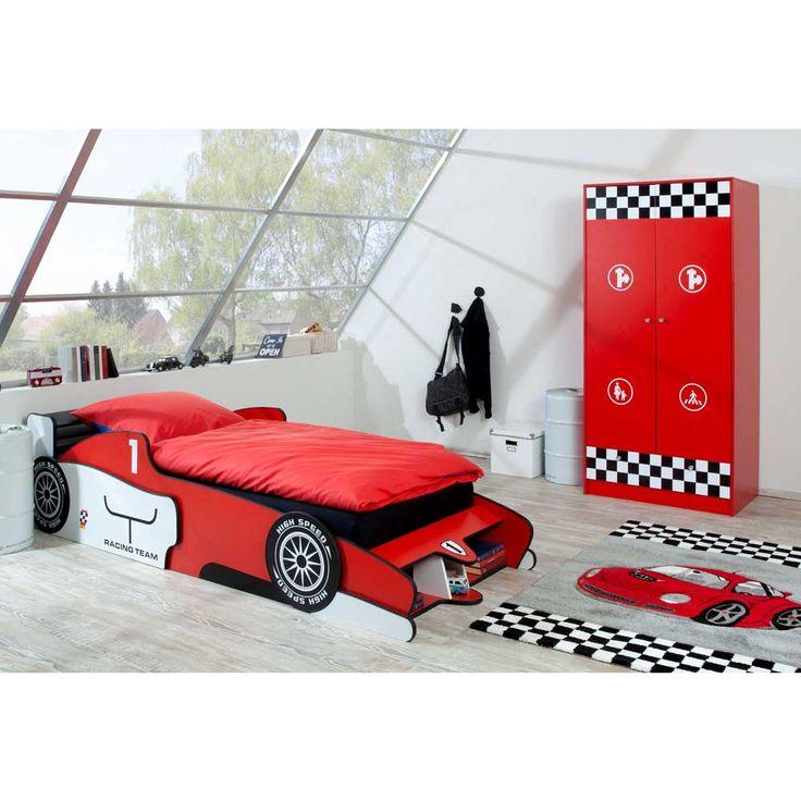 Kinderzimmer Set mit Autobett Rot Weiß (2-teilig) Jetzt bestellen unter: https://moebel.ladendirekt.de/kinderzimmer/betten/kinderbetten/?uid=52585747-5f63-5829-b524-815cfc2c8a72&utm_source=pinterest&utm_medium=pin&utm_campaign=boards #kinderzimmer #set #komplettkinderzimmer #kinderbetten #kinderzimmermöbel #betten #komplett