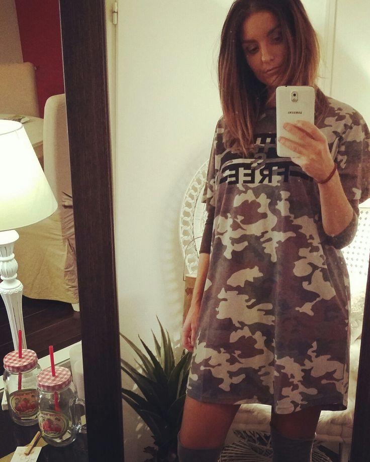 Newco #californiansand #boutiqueenligne #dress #blouse #robe #tunique #militaire #camo #www.californiansand.com
