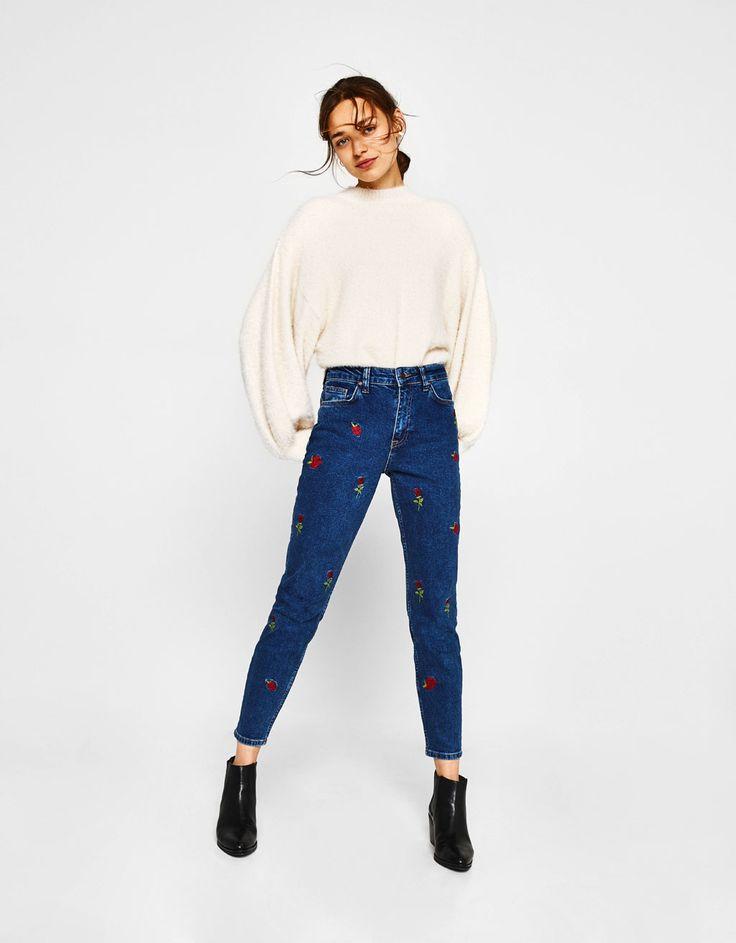 Bershka Croatia - Skinny jeans with embroidery