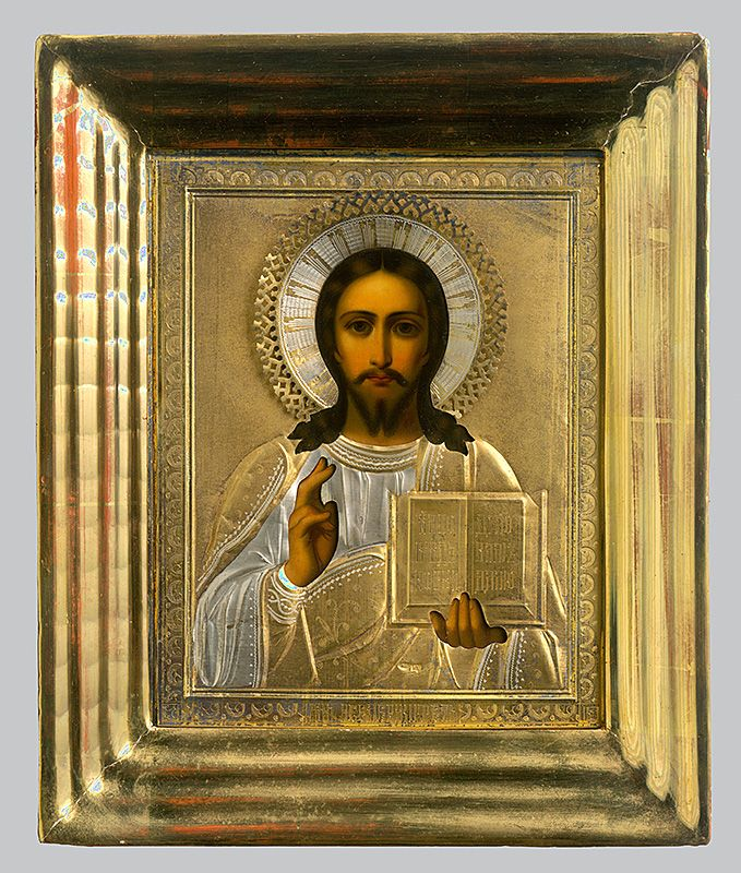 Christ, Russian Iconography, 1885/1900. Slovak National Gallery, CC BY