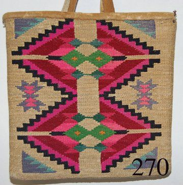 270: NEZ PERCE CORN HUSK BAG : Lot 270
