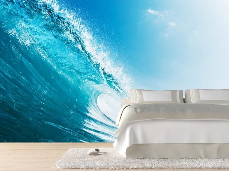 Blue Ocean Wave Wall Mural