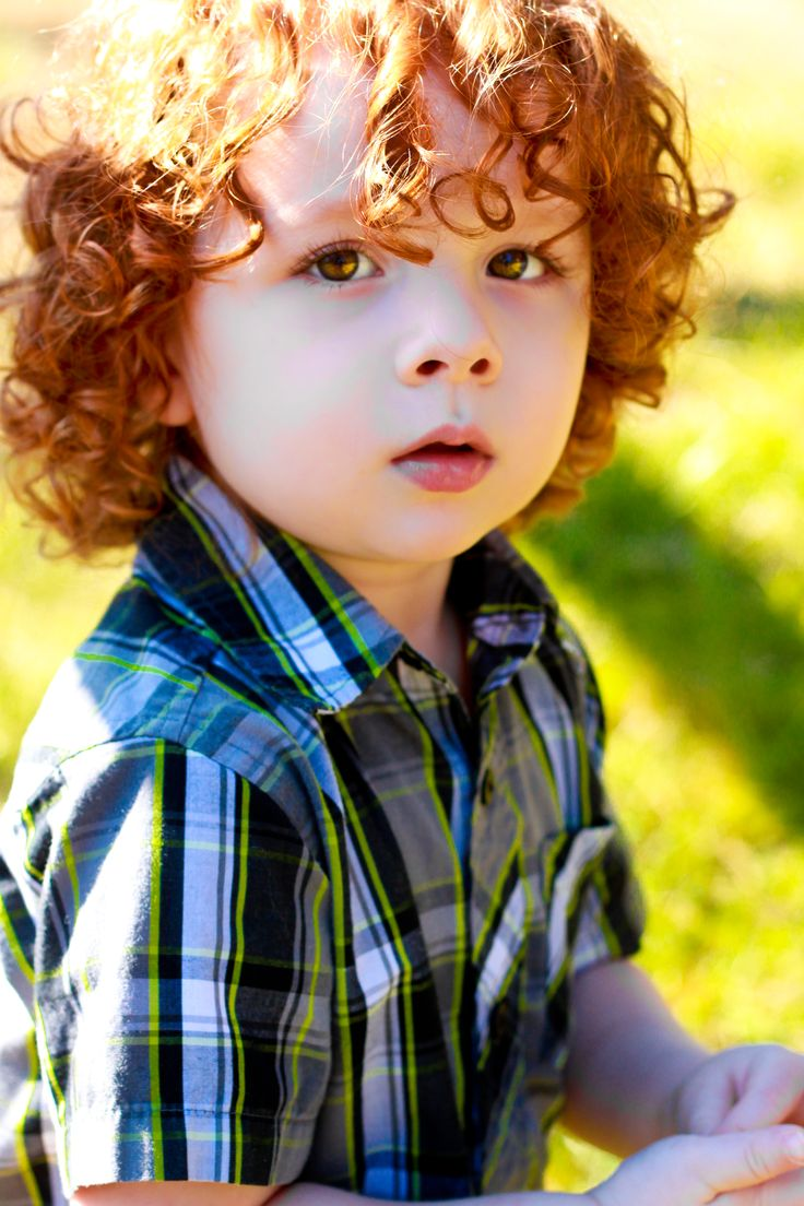 Cute boy with red hair…LITTLE GIRLS IN KINDERGARTEN COULDN'T KEEP THEIR FINGERS…