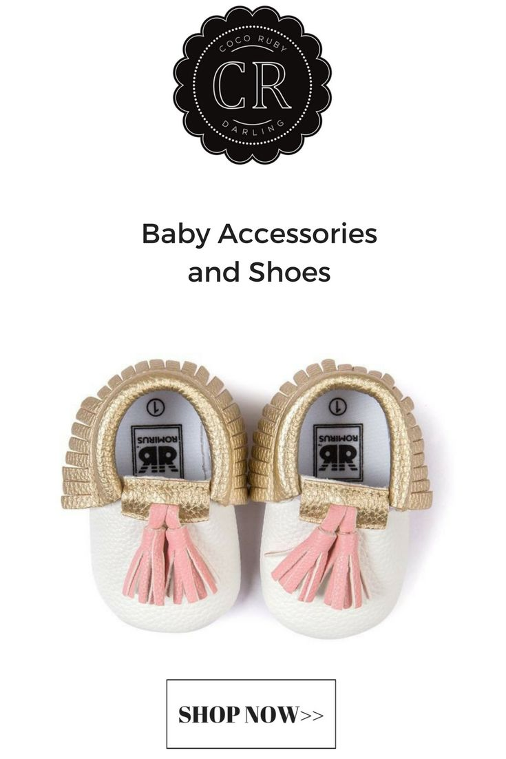 Baby Moccasins - Gold, Pink and White – Coco Ruby Darling
