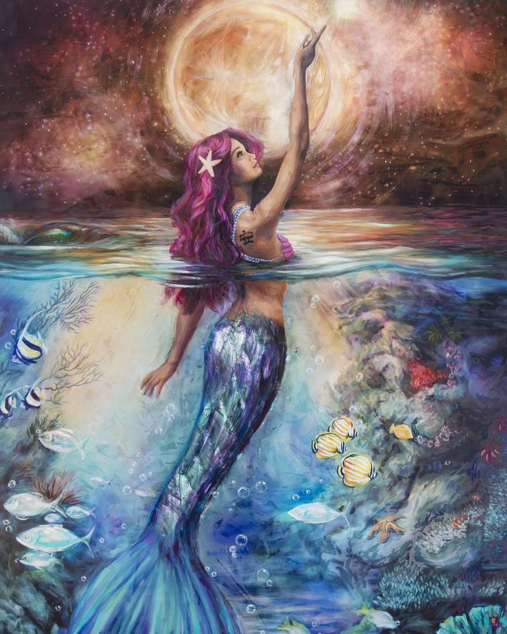 Moonlit Siren by Lindsay Rapp, Art - Mermaids