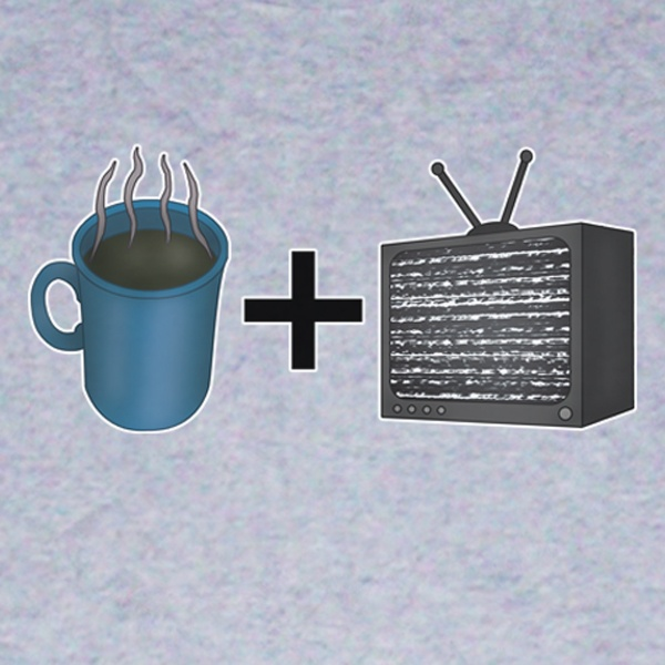 Blur Coffee and TV T-Shirt Design. Available in Mens, Womens and Kids sizes.