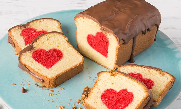 Hidden heart cake #recipe #PledgeToBake
