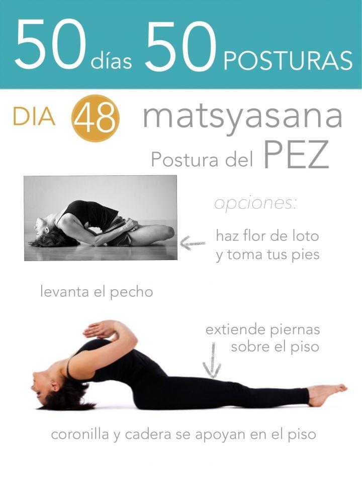 ૐ YOGA ૐ ૐ ASANAS ૐ ૐ Matsyasana ૐ  50 días 50 posturas. Día 48. Postura del Pez.