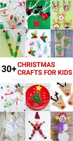 30 Easy Christmas Crafts For Kids Groep 3 Kerst Pinterest