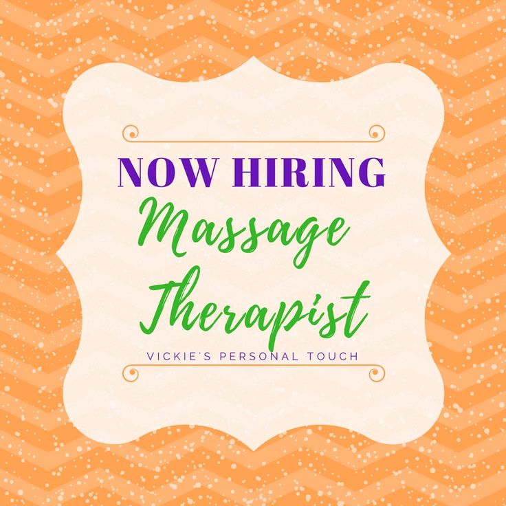 Now hiring massage therapist immediate opportunity for