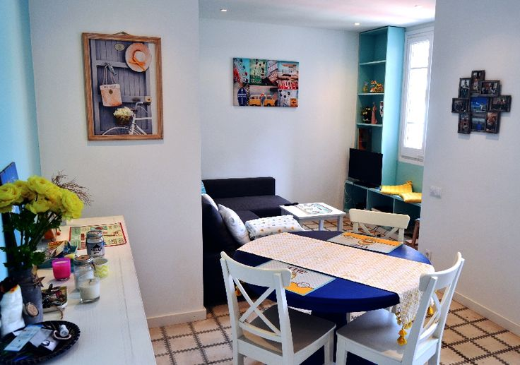 #livingroom #diningroom #bluewall #mediterraneanstyle #grey #homedecor #homedesign #interiorismo #interiores #barcelona #decoracion