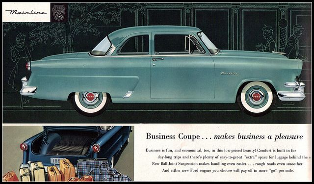 1460 best images about ford cars 1949 1959 on pinterest for 1954 ford mainline 2 door sedan sale