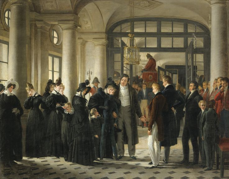 DEPARTURE OF JOINVILLE PRINCE FOR MARINE RAYMOND AUGUSTUS QUINSAC MONVOISIN; THE PRINCE DE JOINVILLE LEAVING FOR THE MARINE; OIL ON CANVAS