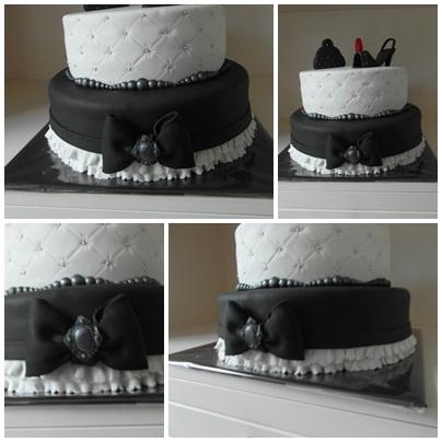 Zwart/witte taart / Black and White cake