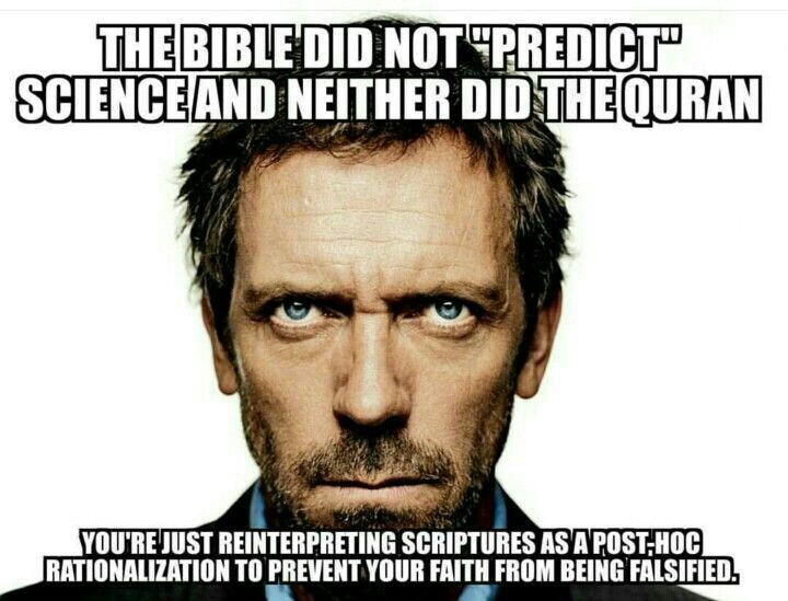 This is both ignorance and arrogance and completely false.  See the comment section for a list of scientific breakthrough science and historic events predicted in the Bible.