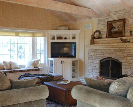 Living Room Corner Tv Design, Pictures, Remodel, Decor and Ideas