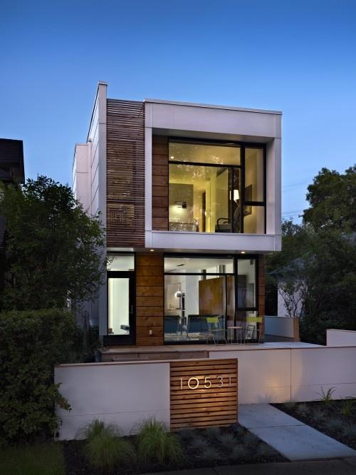 modern exterior // Wood and White