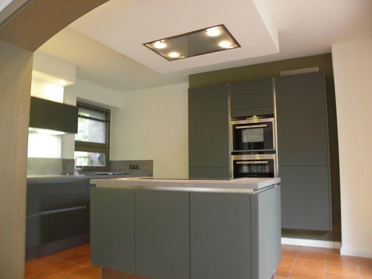 #Küchenfront: Satiniertes Glas, Grün Www.lebenstraum Kueche.de