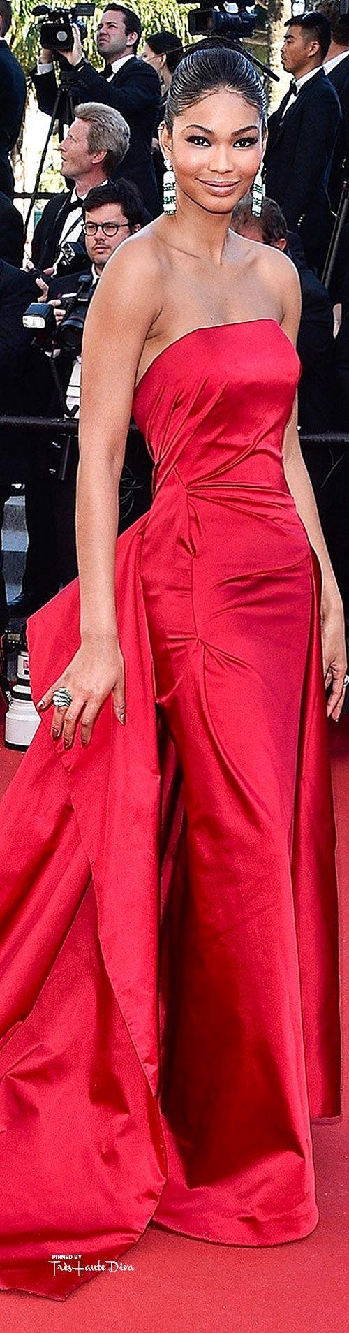 #Chanel #Iman in Donna Karan Atelier ♔ Cannes Film Festival 2015 Red Carpet ♔ Très Haute Diva ♔