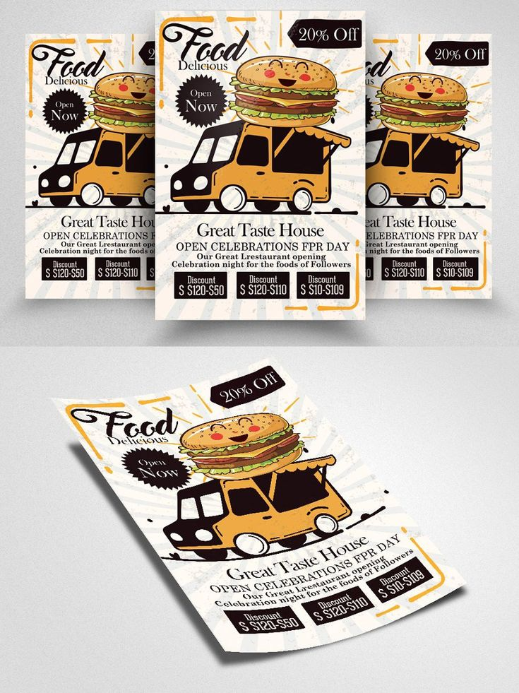 Fast food home delivery flyer in 2020 flyer restaurant