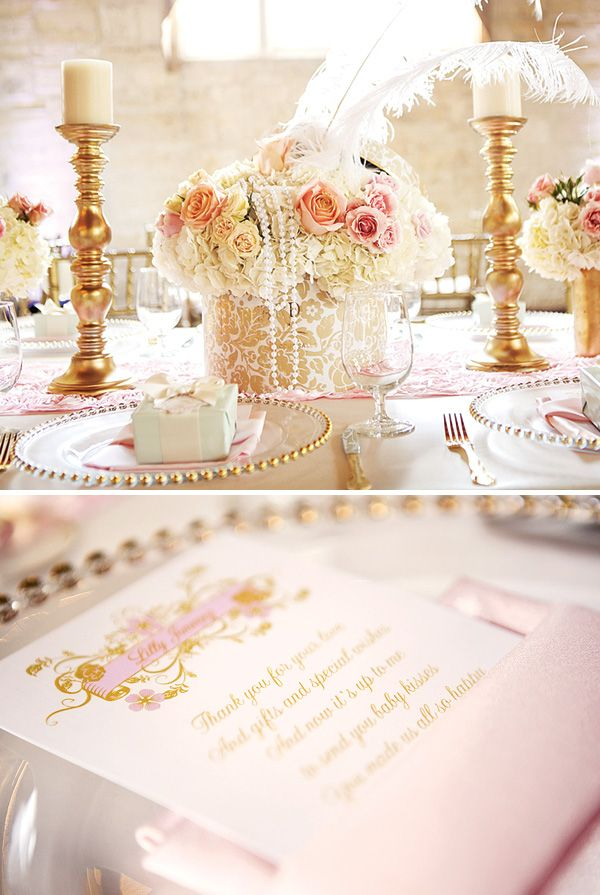 {Sweet & Girly} French Inspired Baby Shower - I know this is a baby shower but it could be converted to a bridal shower! ;) @Lynne {Papermash} Arsenault White @Lauren Davison G