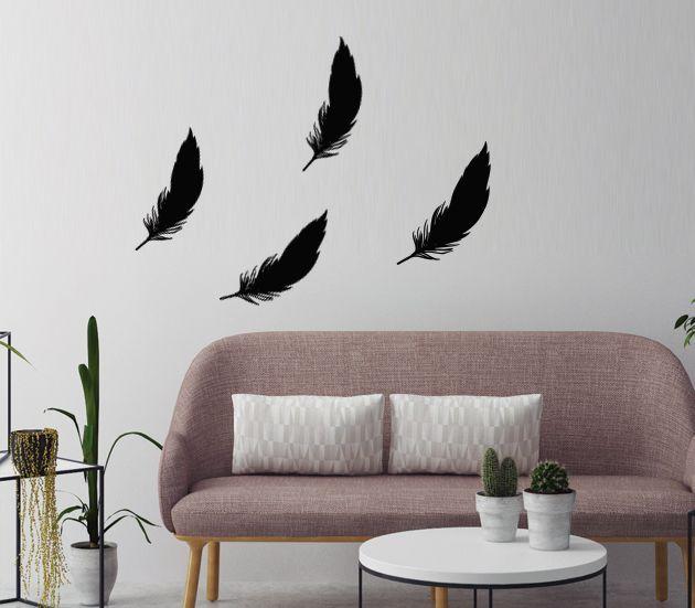 VÄGGDEKOR Fjädrar