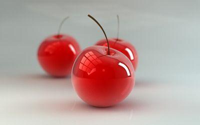 Glass cherries wallpaper