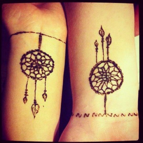 Cute Henna Tattoos: Our Matching Hennas!