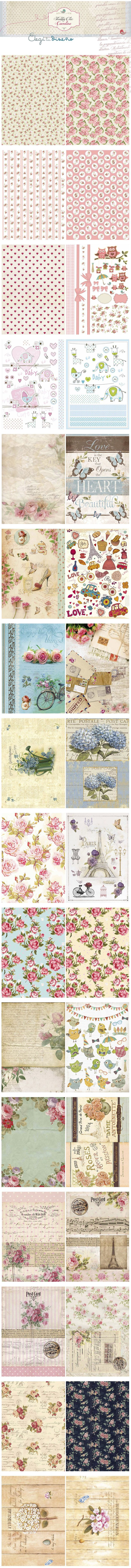 Love these Printables: Floral, butterflies, Paris etc. CLICK on these - they are quite large!